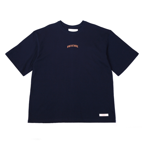 [BLEDITION_블레디션] 1/2 LOOSE FIT SLEEVE T-SHIRTS NAVY