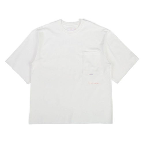[BLEDITION_블레디션] 1/2 OVER FIT POCKET T-SHIRTS WHITE