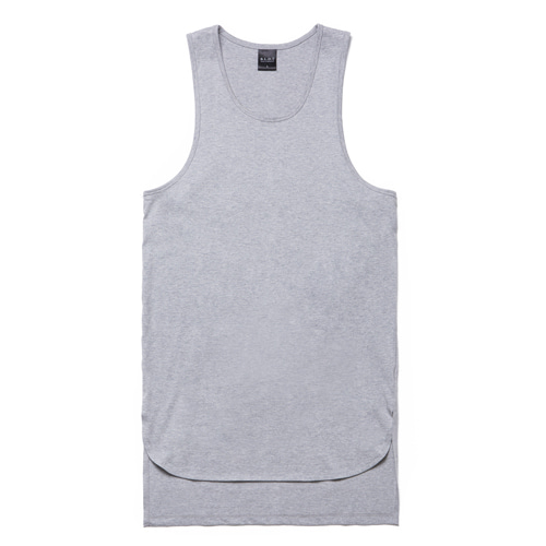 [BLEDITION_블레디션] OVERSIZE LAYERED SLEEVELESS GRAY