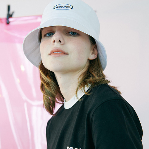 앤커버 NCOVER Round bucket hat-white