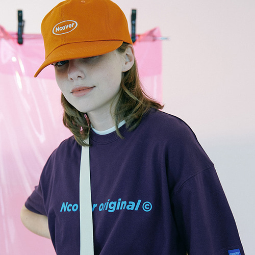 앤커버 NCOVER Round camp cap-orange