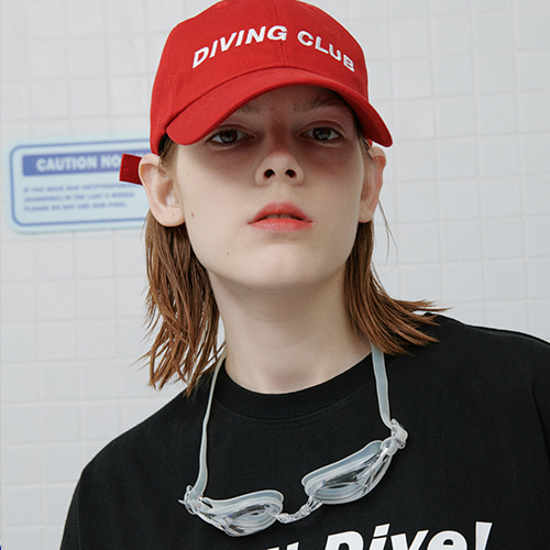 로너 LONER Diving club cap-red