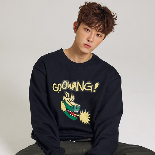 [MINU 마이누] [기모]GOOWANG sweatshirts[Black]