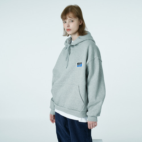 앤커버 NCOVER Square patch hoodie-grey