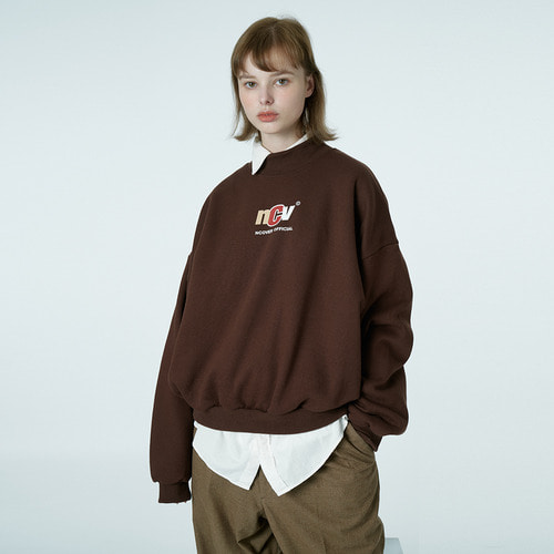 앤커버 NCOVER Crewneck ncv sweatshirt-brown