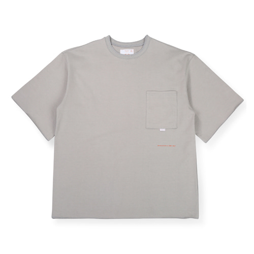 [BLEDITION_블레디션] 1/2 OVER FIT POCKET T-SHIRTS GRAY