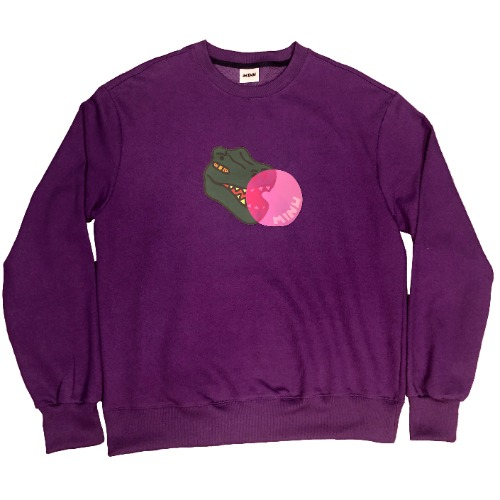 [MINU 마이누] BUBBLE GUM sweatshirts[Purple]