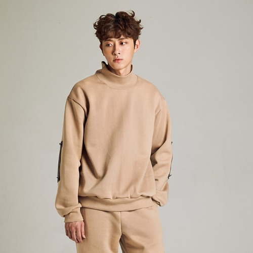 [MINU 마이누] [기모]FREEDOM sweatshirts[Beige]