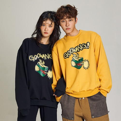 [MINU 마이누] [기모]GOOWANG sweatshirts[Yellow]
