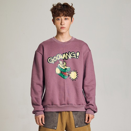 [MINU 마이누] [기모]GOOWANG sweatshirts[Purple]